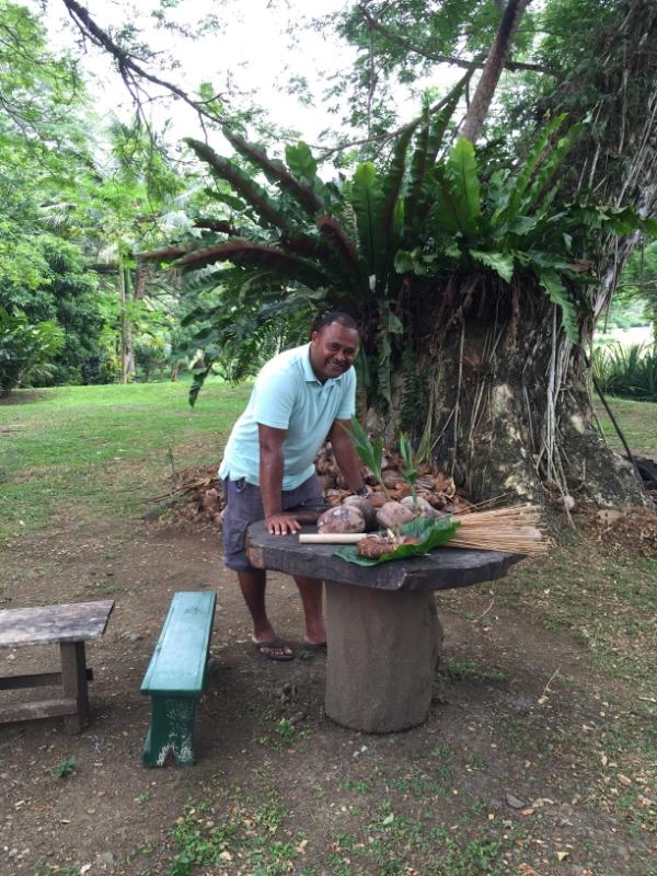 Solomone the Fijian Superman and coconut aficionado