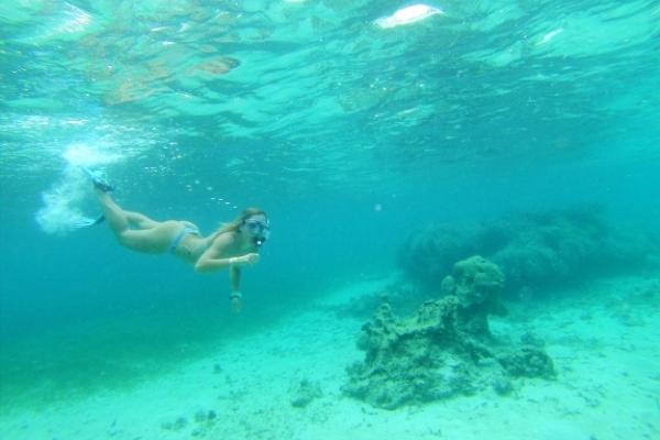 swimming in Fiji