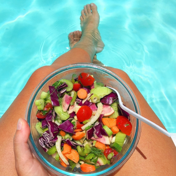 poolside lunch