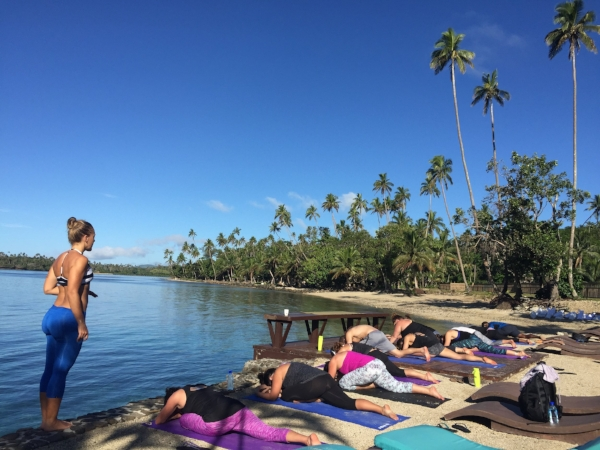 Yoga at the Wai Dock