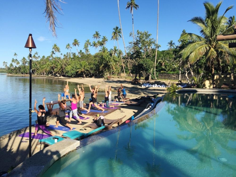 Morning Yoga at the Wai Club
