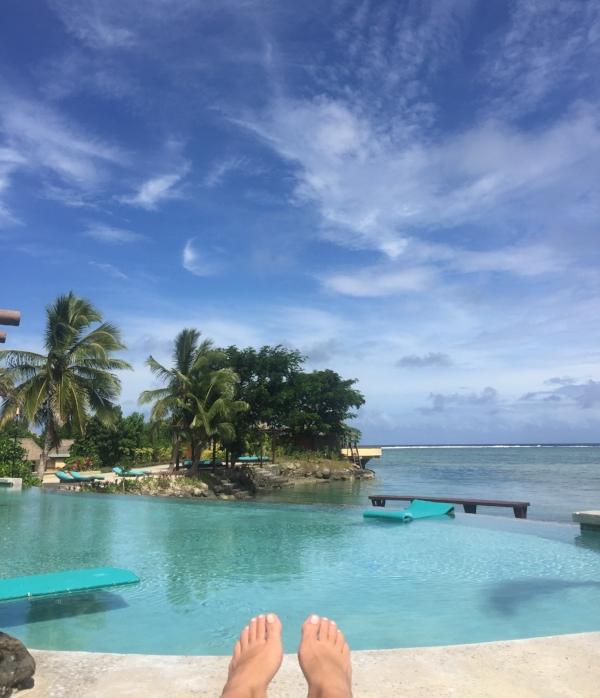 The Wai Bar Infinity Pool overlooking the ocean