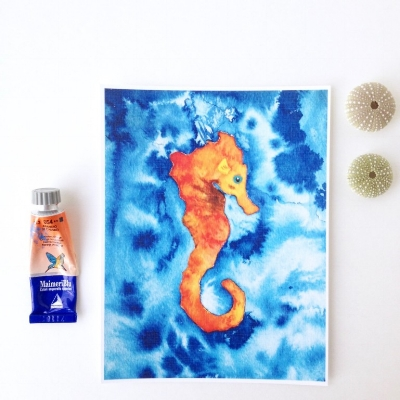 Orange-and-Blue-Hawaiian-Seahorse-Artwork_by-Maui-artist-Mika-Harmony-768x768.jpg