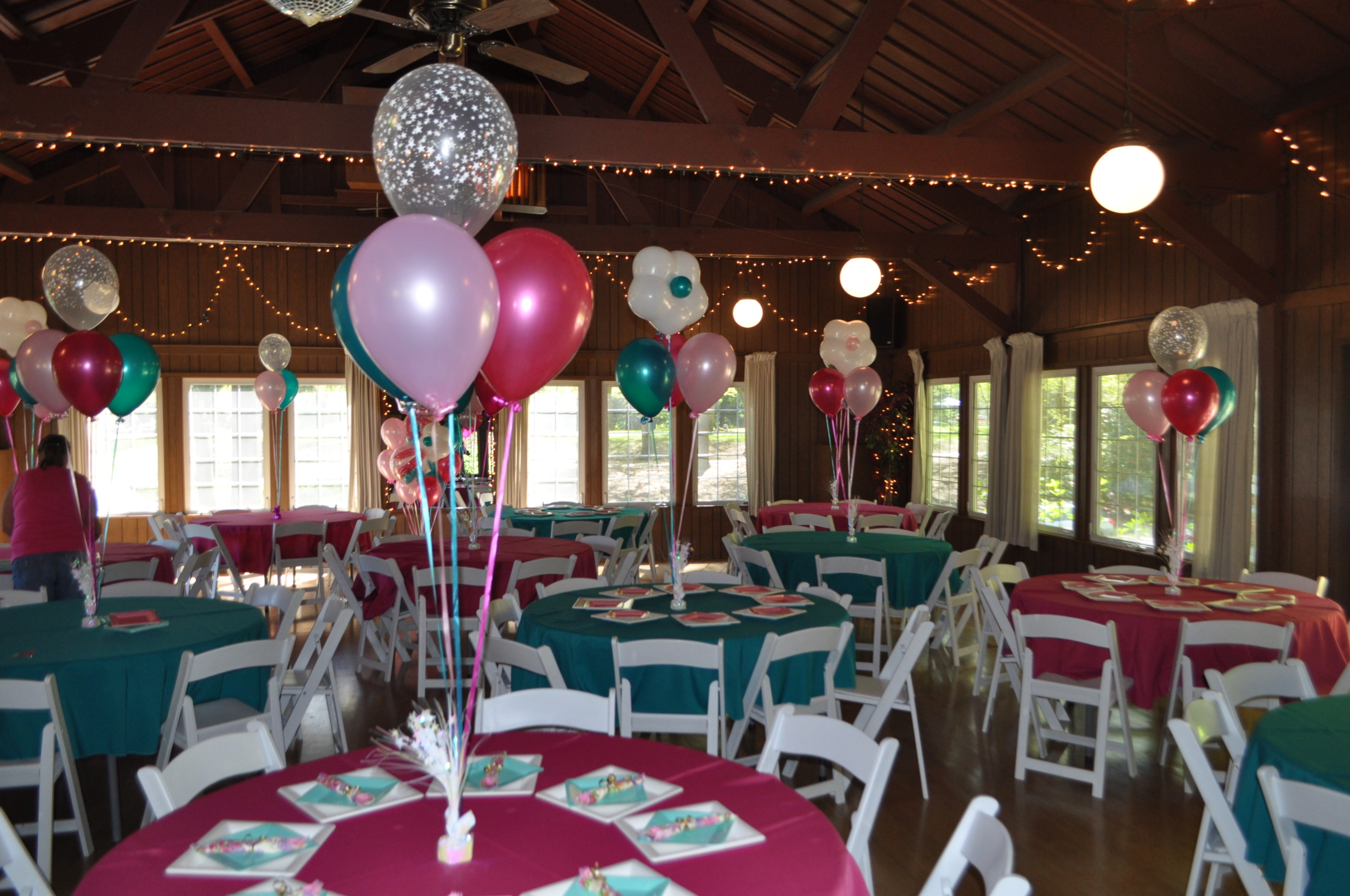 (Bouquets of four 11'' balloons, weighted = $11.75)