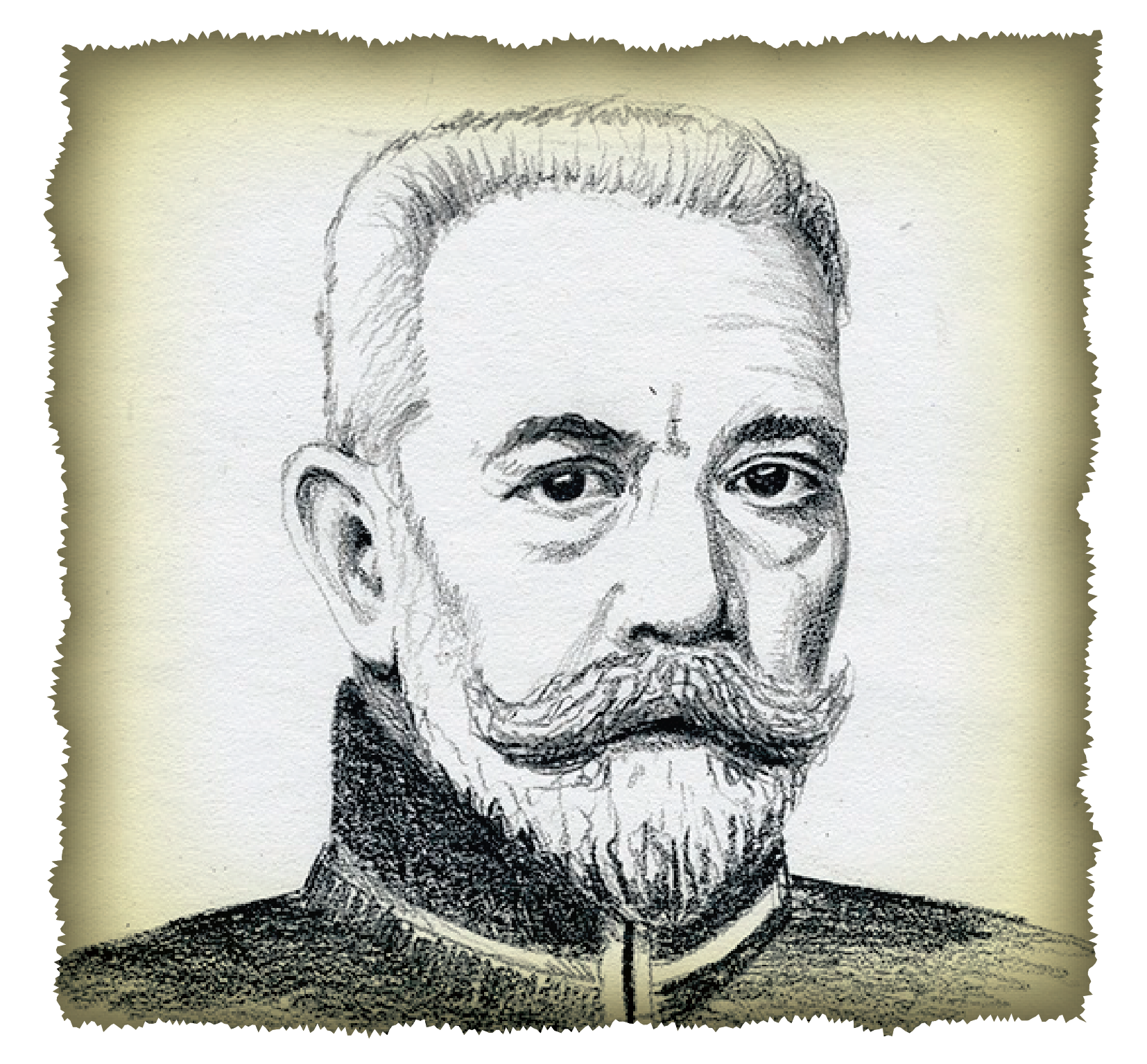 "Theobald Bethmann-Hollweg, Chancellor of the German Empire  ""The Suspicious Moustache"""