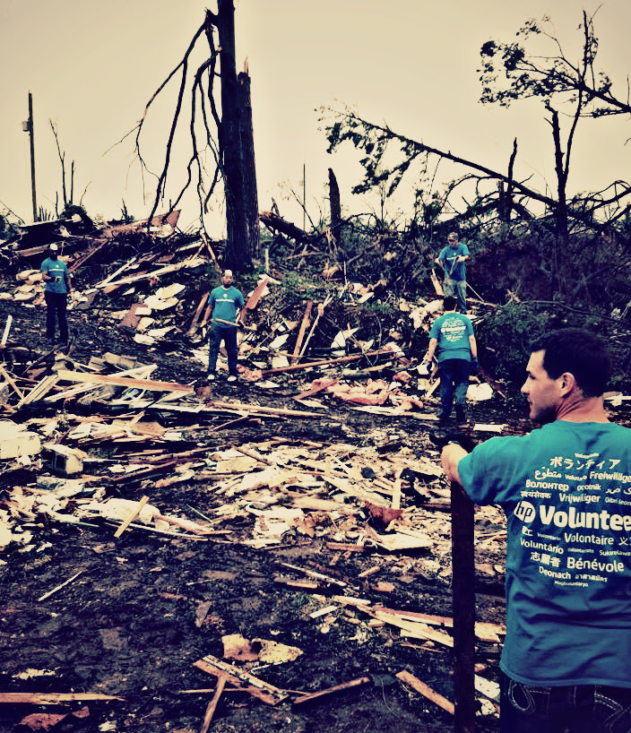 Rebuilding and helping people...