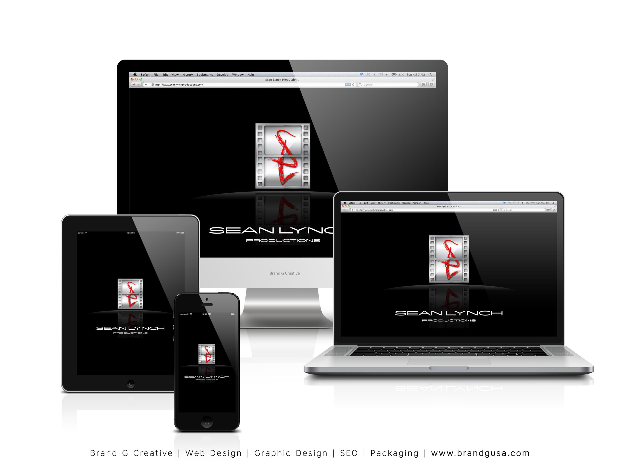 Brand G Creative Web Design Versions