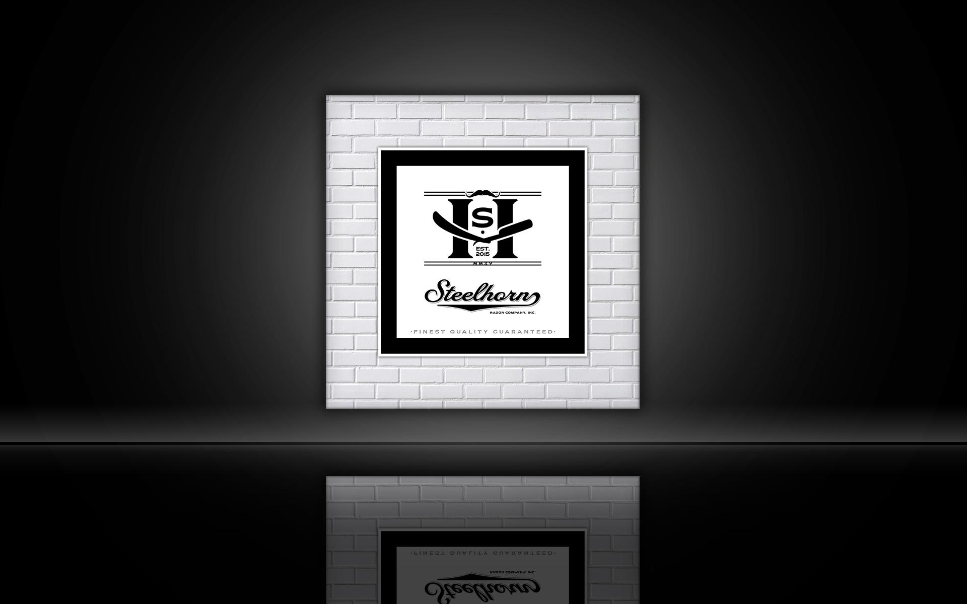 Steelhorn Razor Company Logo by Graham Hnedak Brand G Creative 01 SEPT 2015.jpg