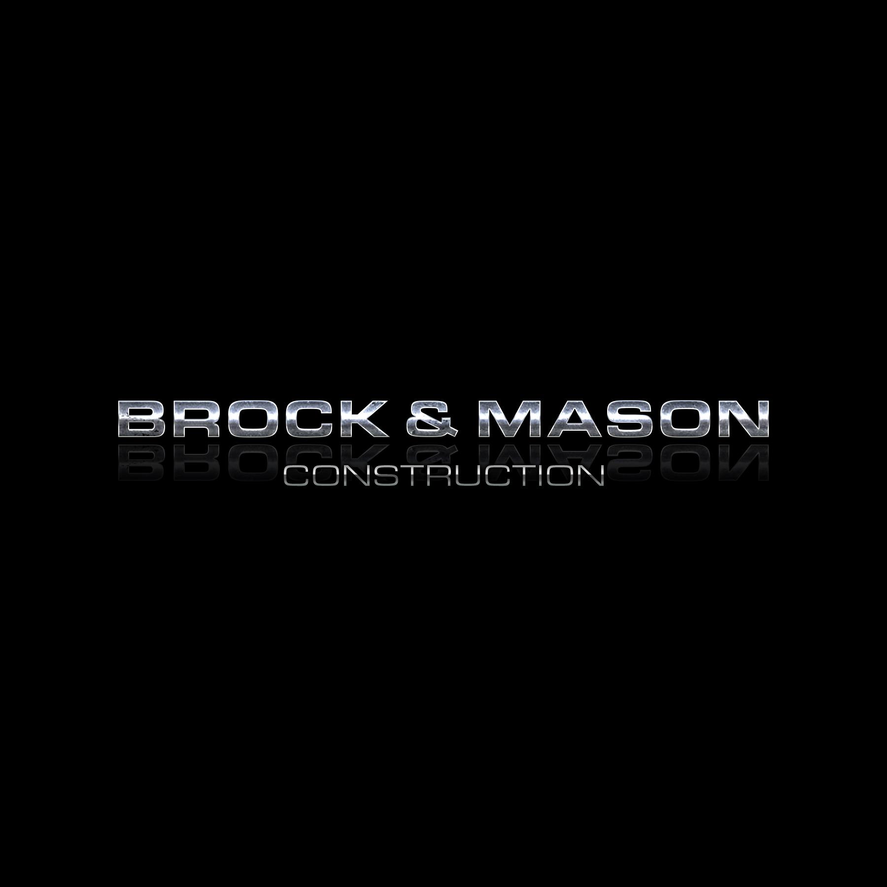 Euro Block Font Option Budget Logo Express Metallic Grunge Brock and Mason Construction black reflection by Brand G Creative 07 OCTOBER 2017.jpg