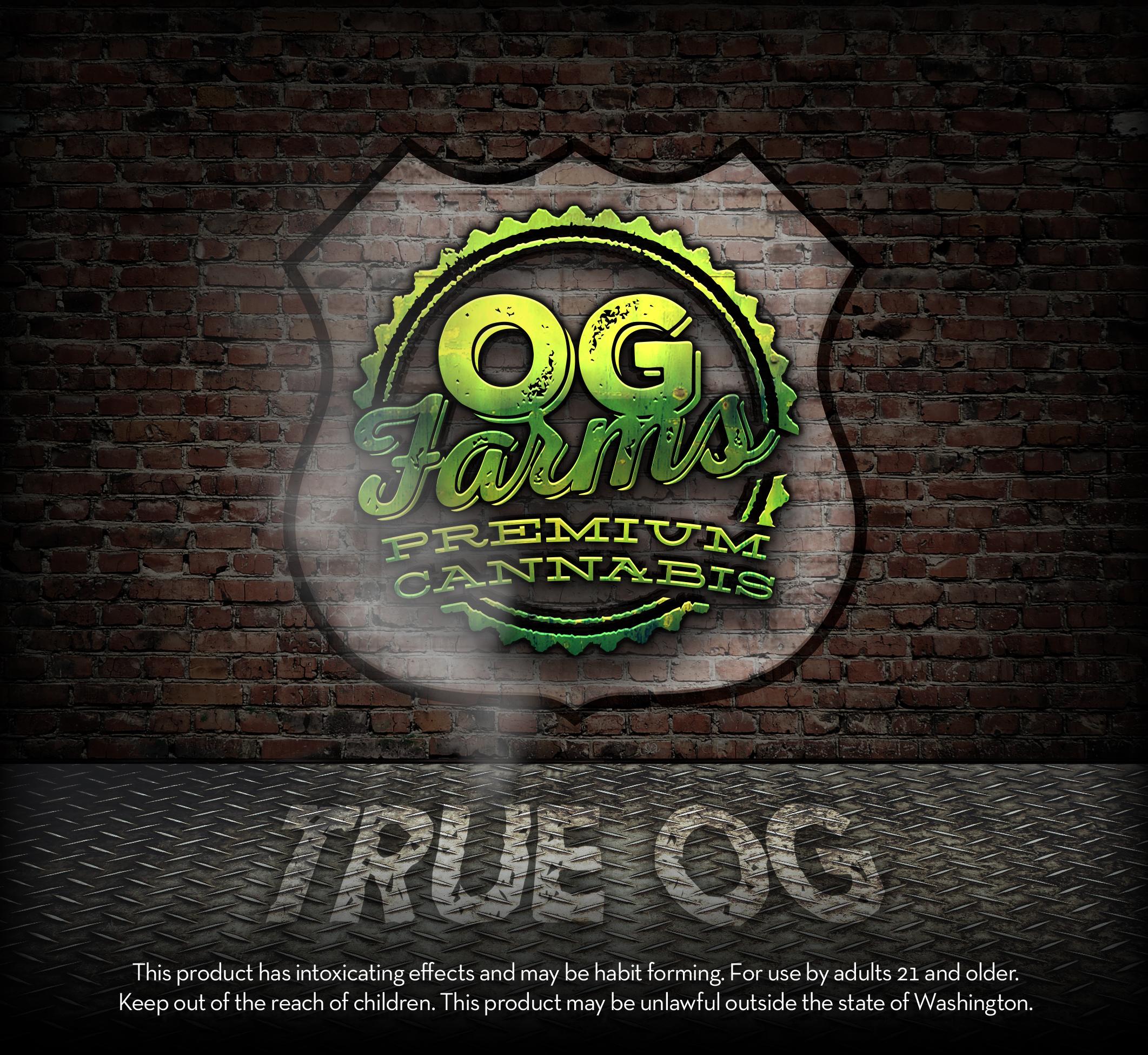 OG Farms TRUE OG Cannabis Label
