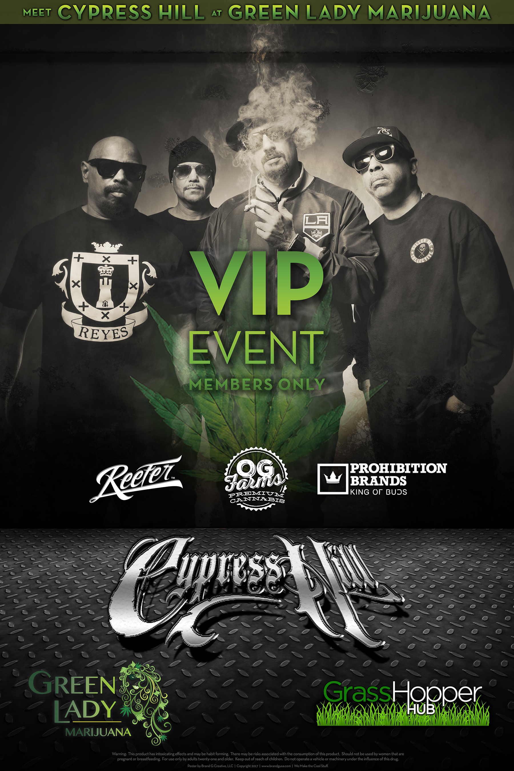 Cypress Hill Poster by Brand G Creative