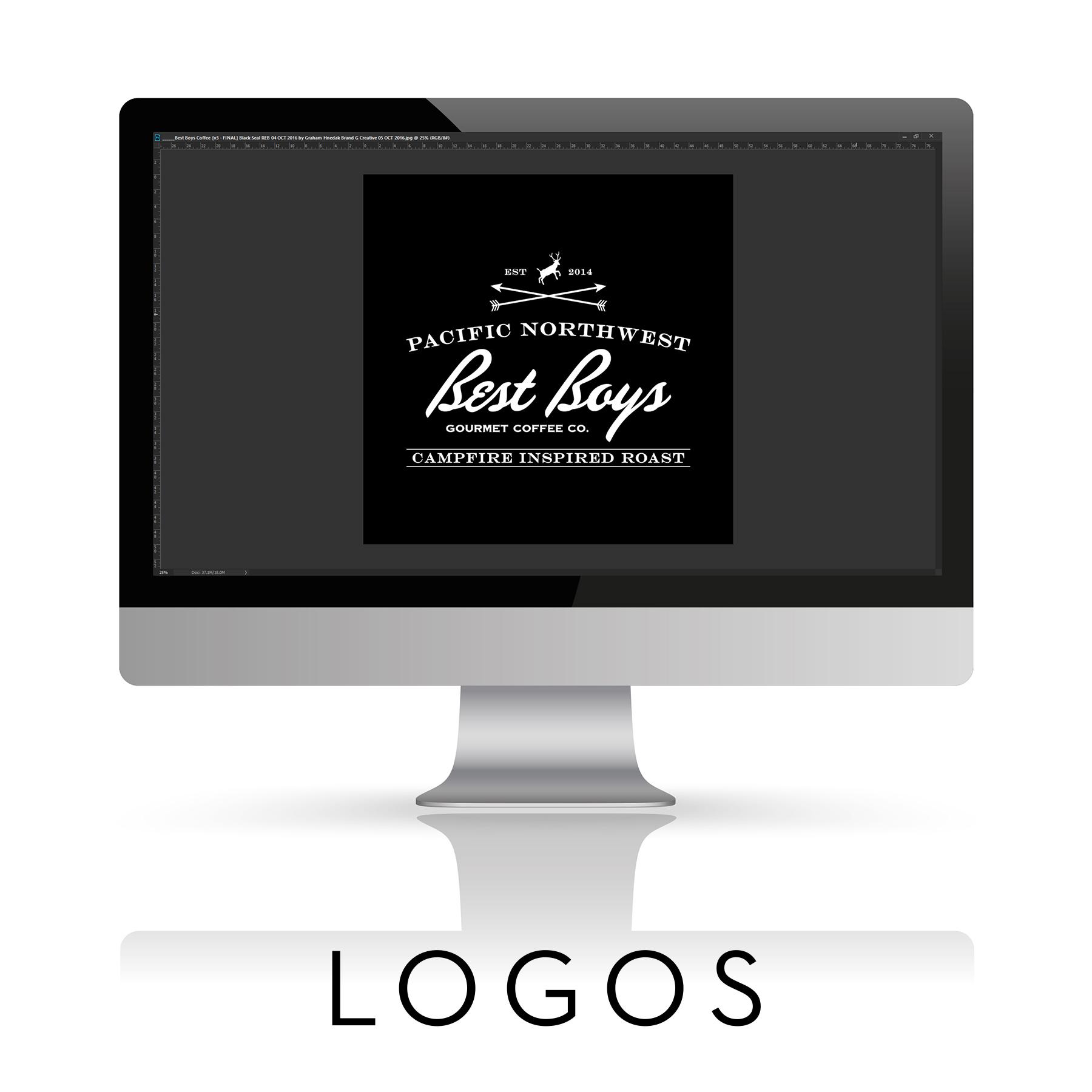 Custom Premium Logo Design Brand G Creative Seattle Portland Los Angeles San Diego San Francisco Salt Lake City Las Vegas Bellingham Mount Vernon Vintage Modern Retro Script Font Rat Pack