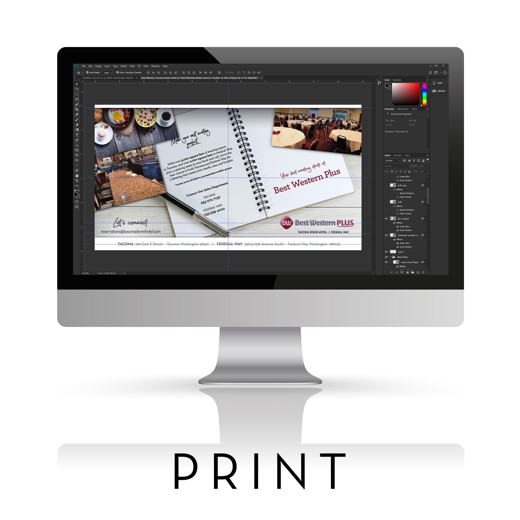 Premium Quality Print Brochures Printing Ad Advertising Disply Promotions by Brand G Creative Seattle Portland San Diego San Francisco Los Angeles Las Vegas Salt Lake City Custom Rush