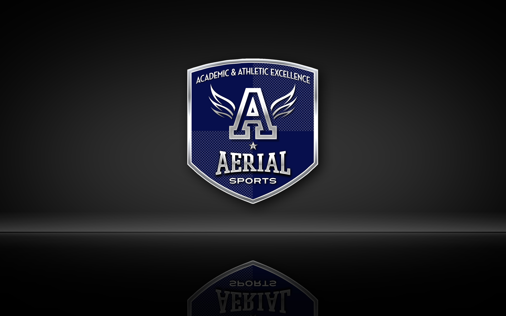 Aerial Sports Crest Collegiate Metal Navy Blue [v2] Credential Shield Logo by Graham Hnedak Brand G Creative 21 June 2019.jpg