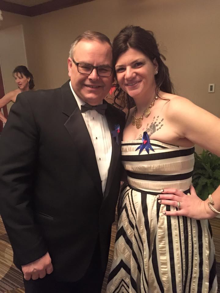 Gene and I at the 5th Annual Blue Ribbon Gala for Marley's Mission where the Remembering Zachary Award is given out.
