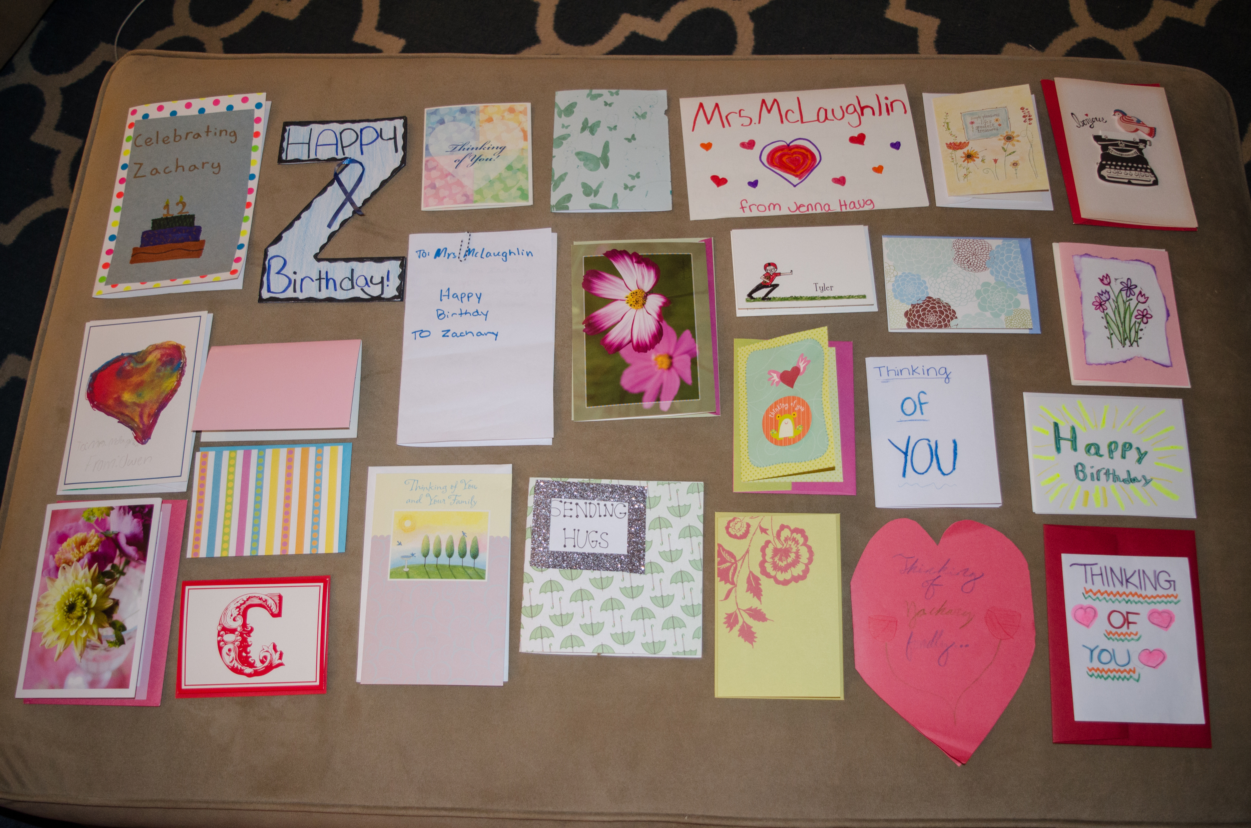Cards from my class.