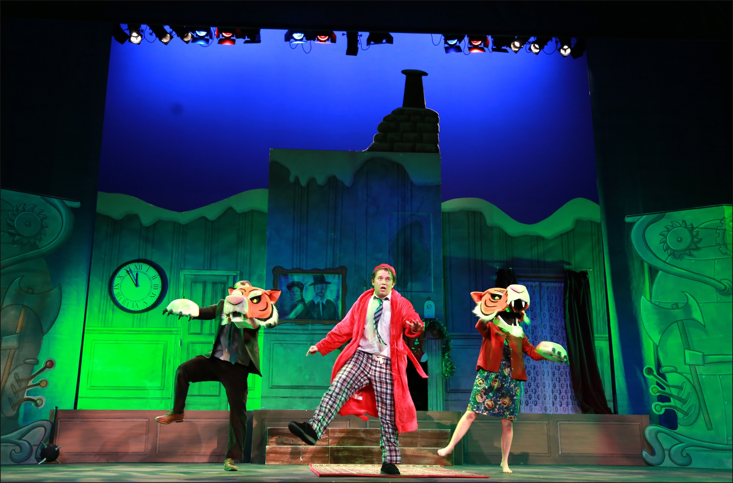 Toby Vaughan as BRADLEY BARTLEBY with Ben Tolley and Eloise Secker