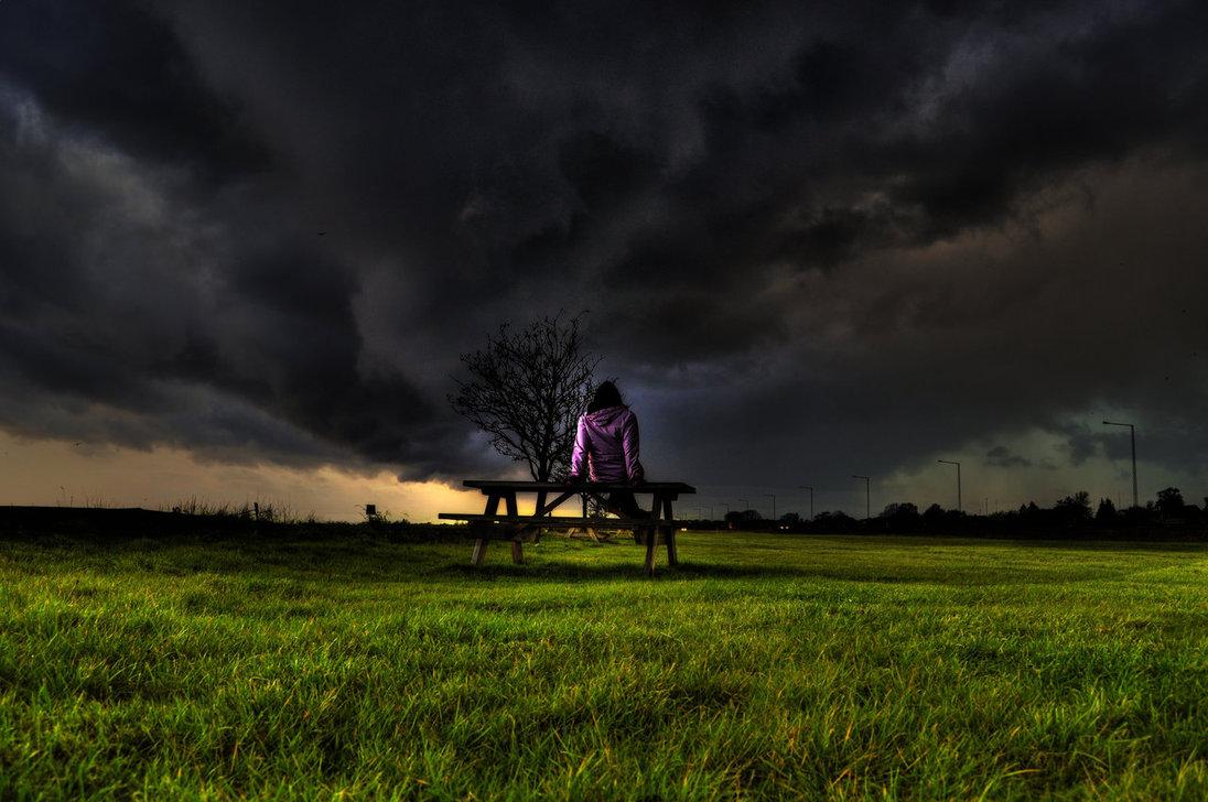 Contemplating a coming storm.
