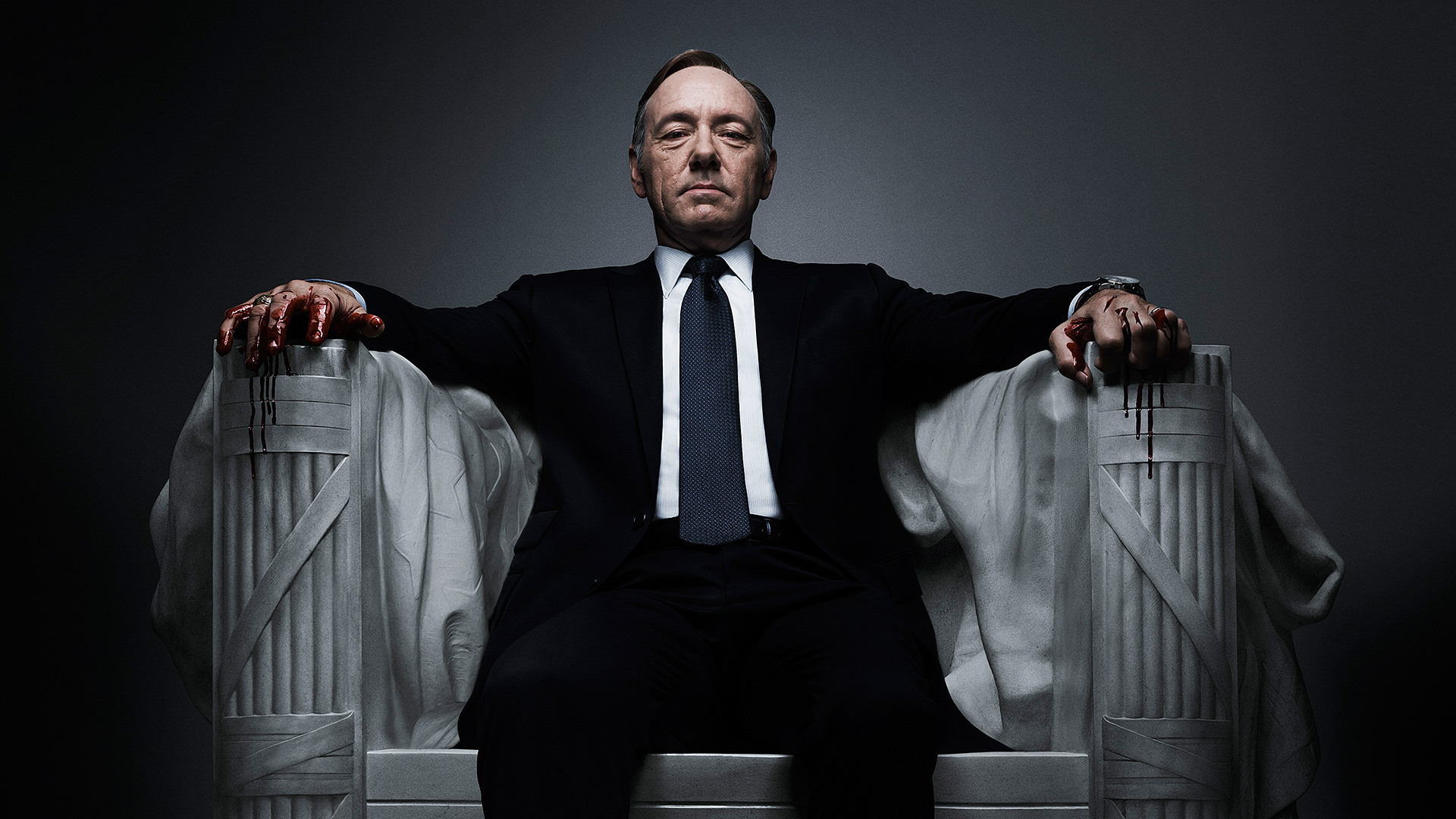 Kevin Spacey as President Francis Underwood - A long way from President Bartlett.