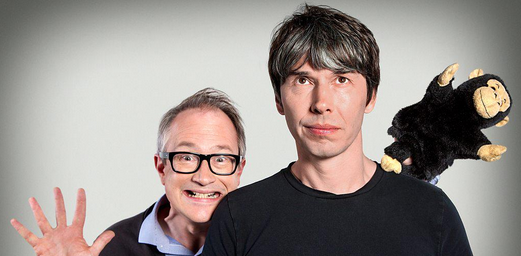 "Brian Cox and Robin Ince, co-hosts of ""The Infinite Monkey Cage"" on BBC4."