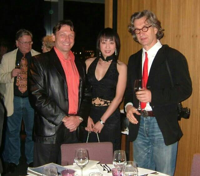 With Wenders at an event in Tokyo 2006