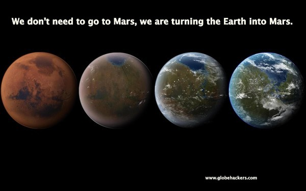 Why go to Mars when we are unable to keep Earth viable for life as we know it?