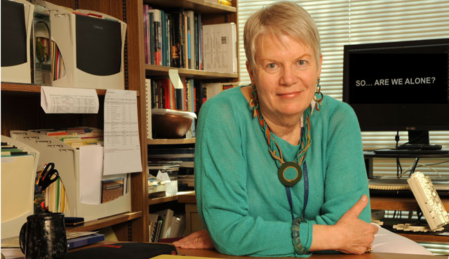 Jill Tarter who has long worked with SETI.