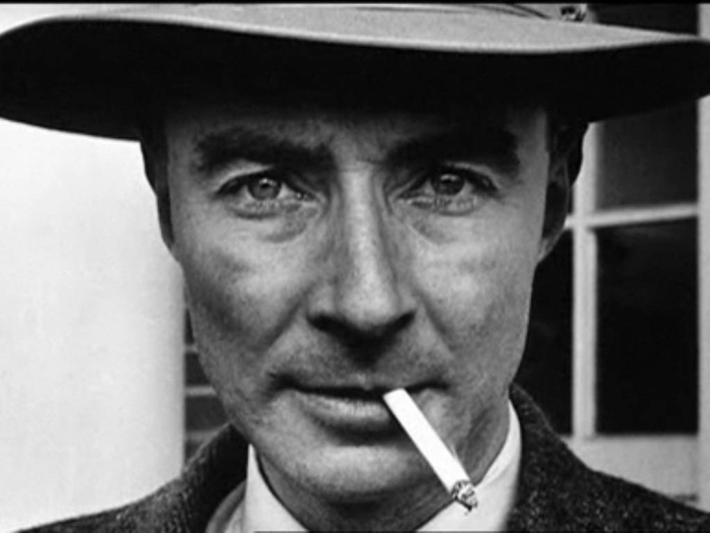 J. Robert Oppenheimer, Nuclear Physisist and all business.