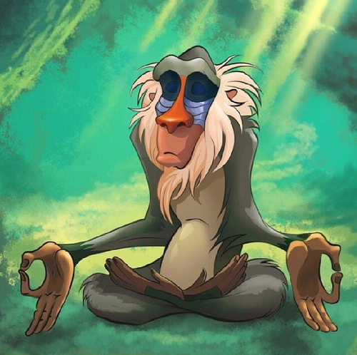 Rafiki from the Lion King had it right!
