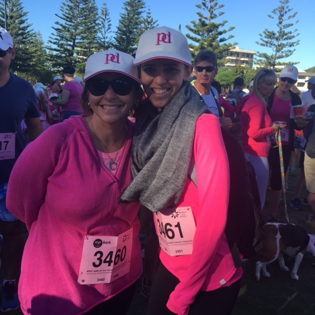 Walking the Mothers Day classic with my mum about 10 days in.