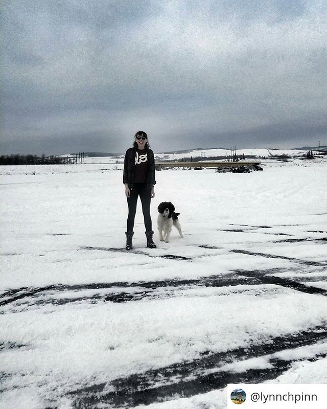 "Little #regram from @lynnchpinn It's always good to see where she's exploring and dragging us to next 😁✈ · . ""Just casually driving on lakes with my buddy ❄🐕"" #Calgary #calgarycity #Rockies #Canada #travelling #yyc #discovercalgary #yycnow #Alberta #discoverAlberta #travelalberta #outandaboutcalgary #yycadventures #lifeincanada #narcitycalgary  #winter #lovelin #lovelinuk"