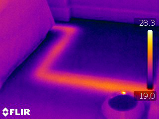 Thermal imaging is an example of a thorough non-invasive survey technique used by ABKD.