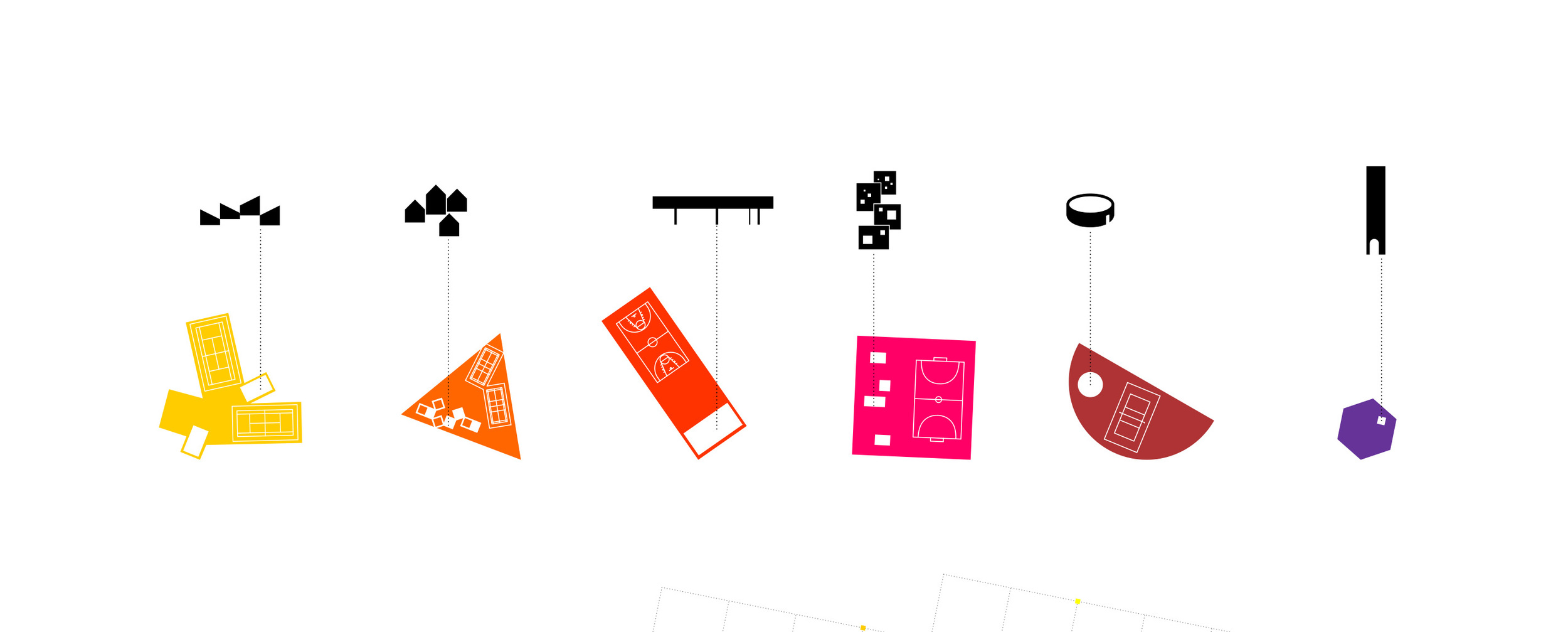 Different public program for each square