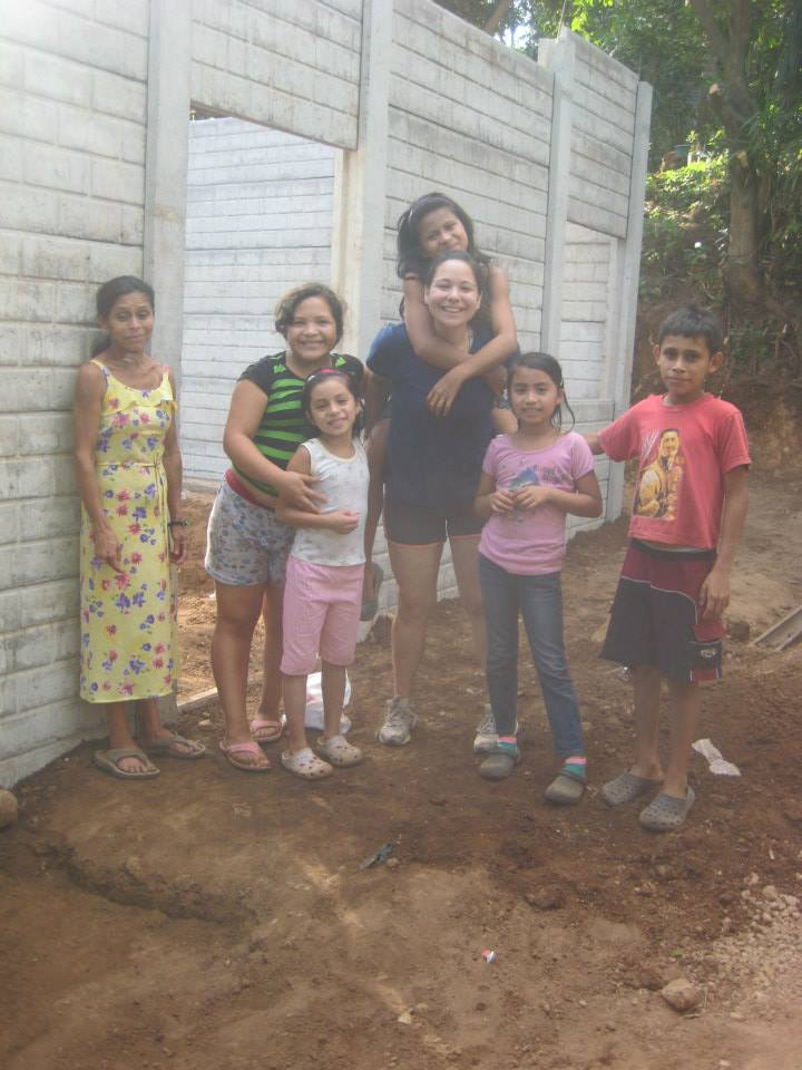 Allyson with Irma and her relatives.