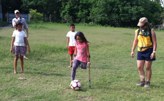 Blanca's determination is evident on the soccer field, AND the basketball court, AND the baseball diamond ...
