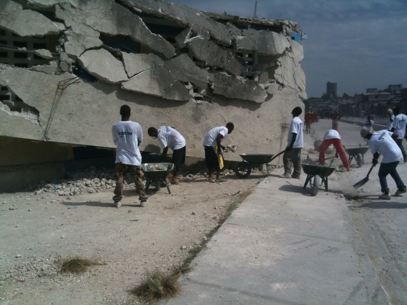 Homes from the Heart directed clean-up in Haiti