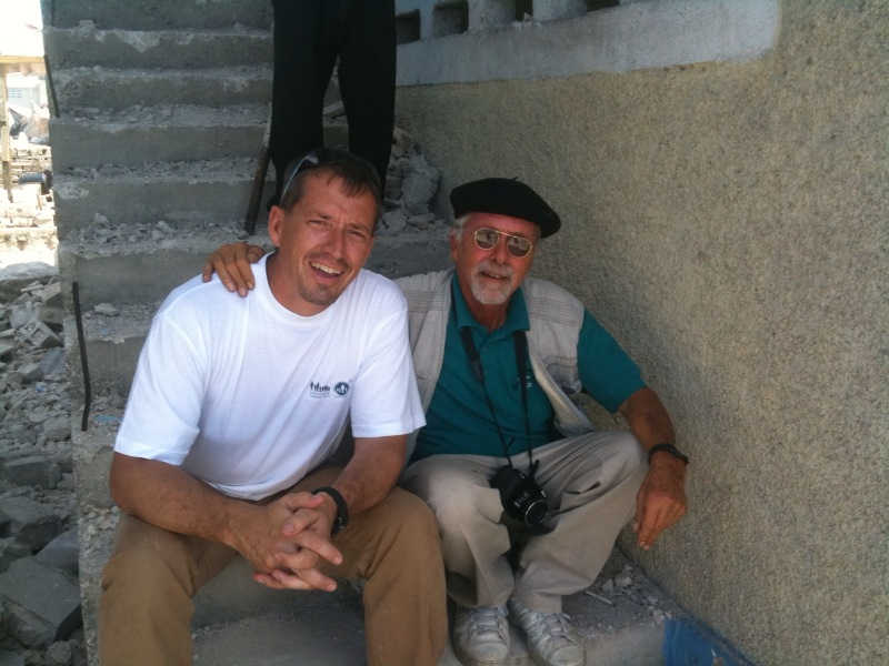 Michael Bonderer and Rob Beckham on the job in Haiti.