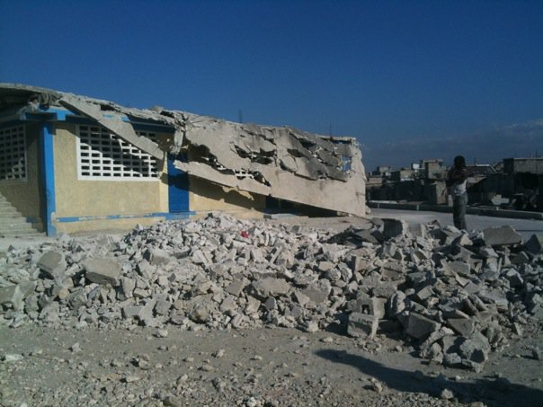 Saint Ambrose School after the 2010 earthquake.