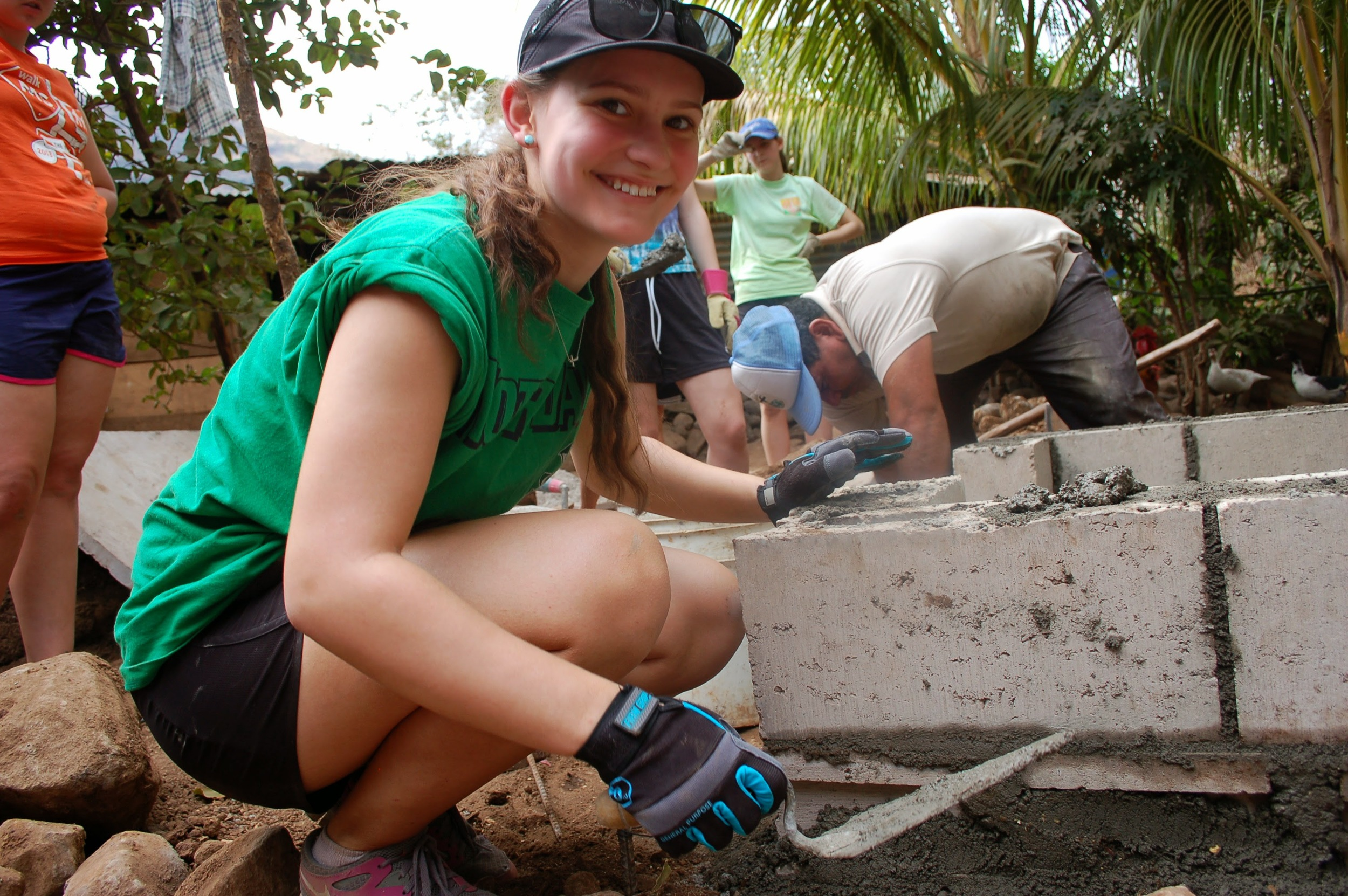 Building latrines in Chiltiupán (photo credit: Jennifer Greene)
