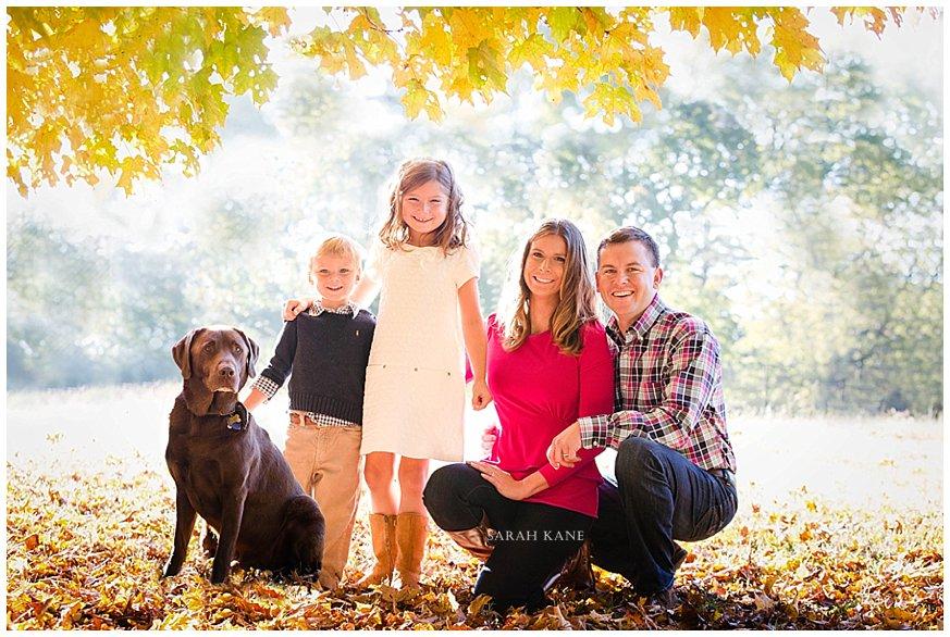 Fall family portraits in RVA www.sarahkanephotography.com