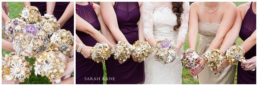 brooch wedding bouquets www.sarahkanephotography.com