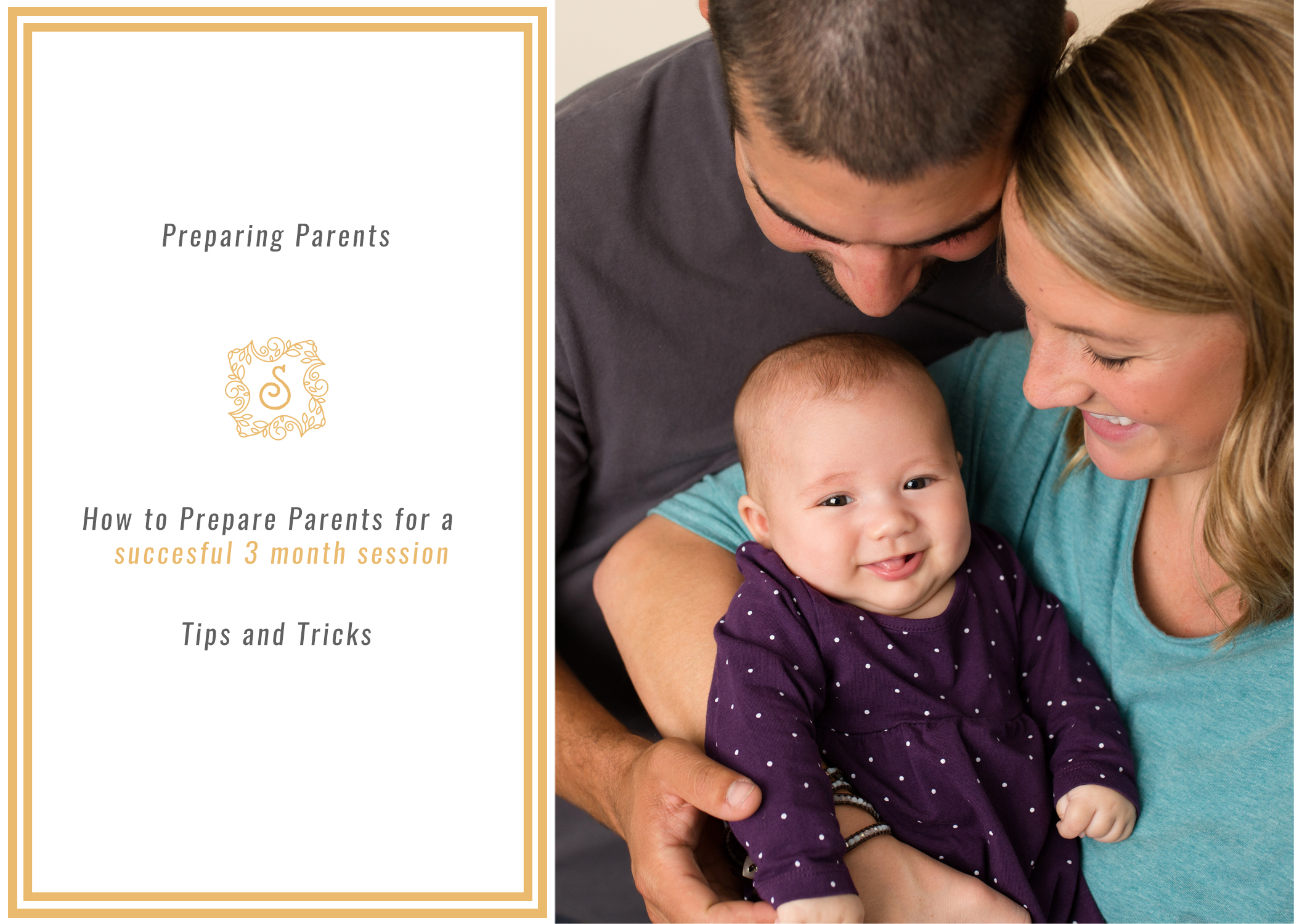 How to Prepare Parents for a 3 Month Old Session www.sarahkanephotography.com