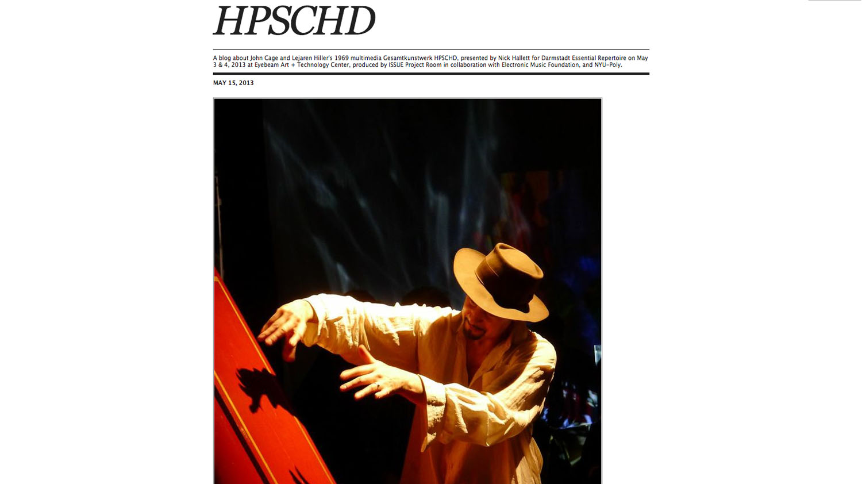 HPSCHD Tumblr edited by Nick Hallett
