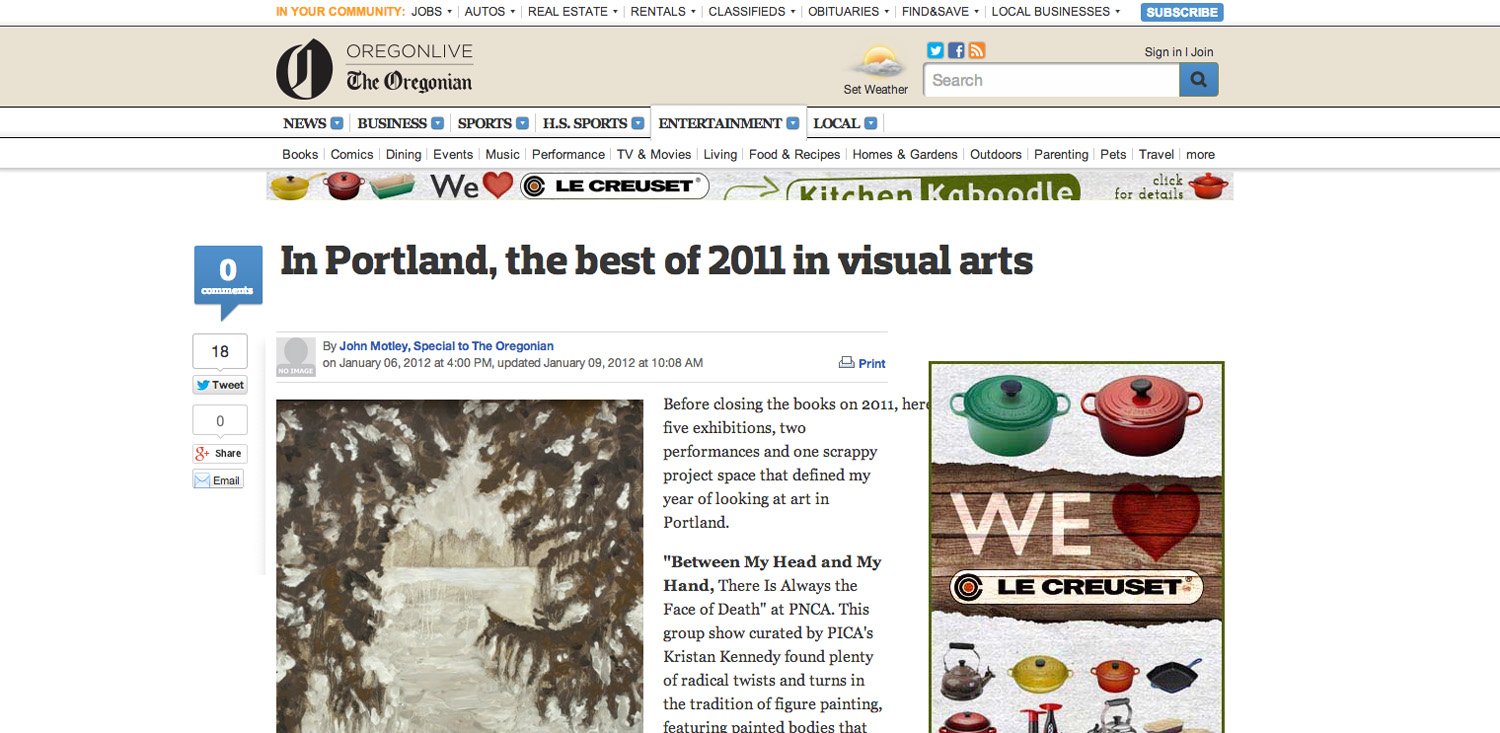 Oregonian  In Portland, the best of 2011 in visual arts