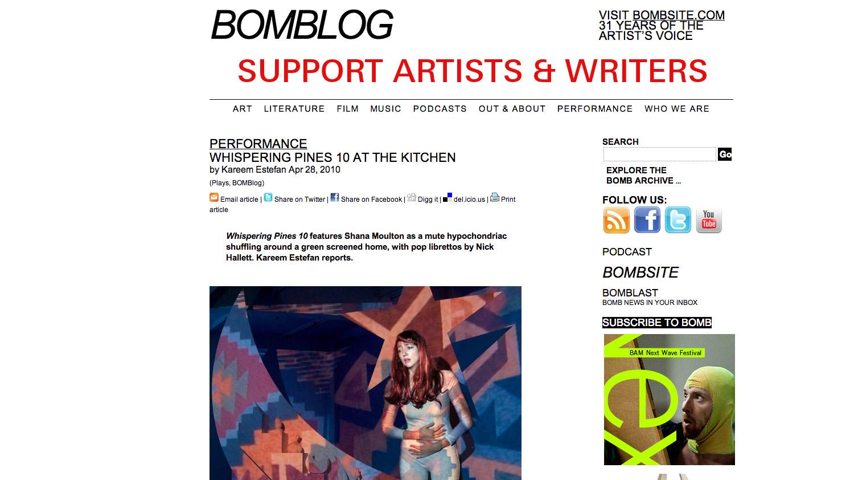 BOMB  Magazine Review