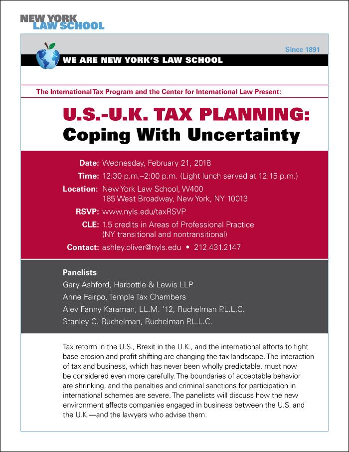 U.S.-U.K. Tax Planning: Coping with Uncertainty