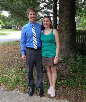 Todd after a successful dissertation defense with girlfriend, Kathleen, in May 2013.