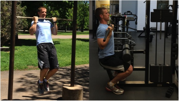Performing a pull-up in the park can replace a lat pull-down in the gym
