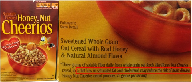 "General Mills has us all convinced that eating Honey Nut Cheerios is ""good"" for our hearts."