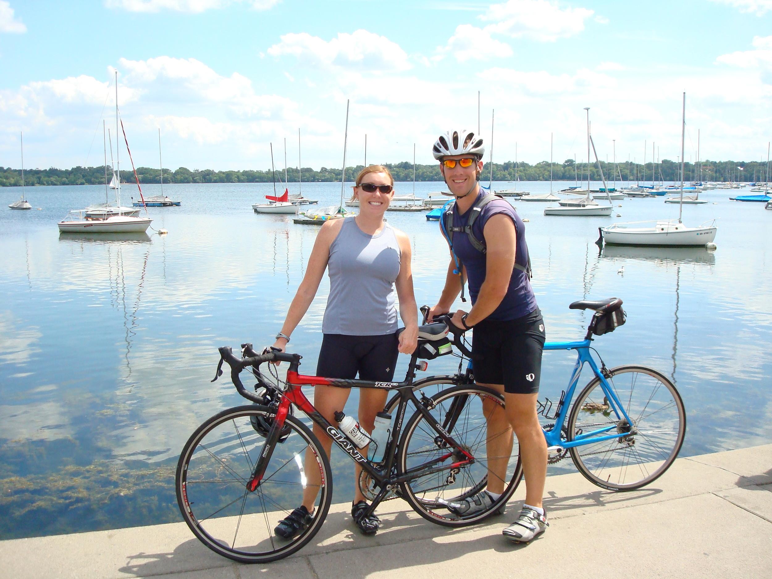 Biking in Minneapolis Lake Calhoun